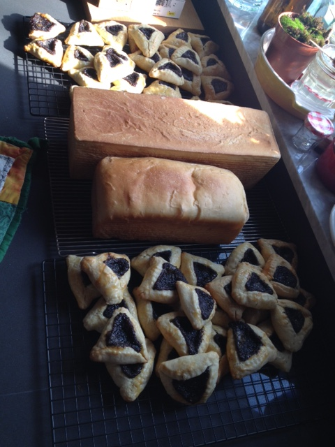 Bread and hamantaschen: one way to spend a long morning