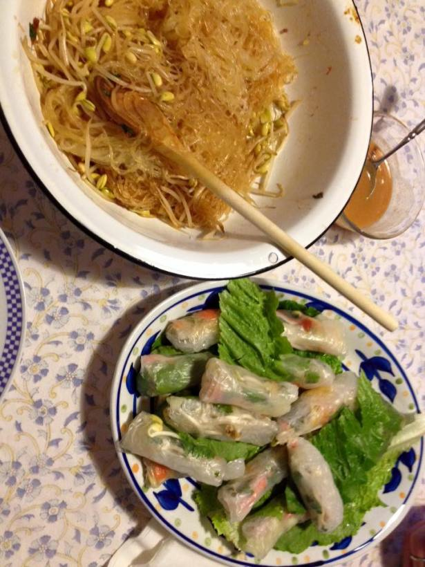 Spring Rolls Cellophane Noodles